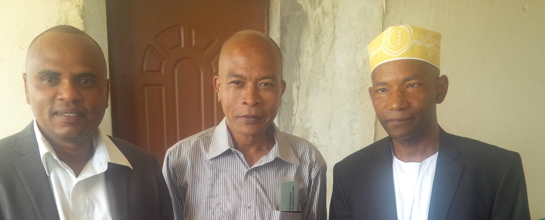 Acceuil des délégués de l'AFCDAM par monsieur le Directeur de cabinet du gouvernorat de Moheli